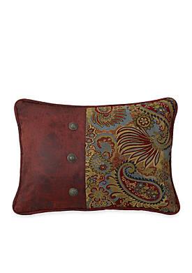 San Angelo Pieced Paisley Decorative Pillow
