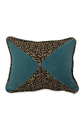 San Angelo Pieced Leopard Decorative Pillow