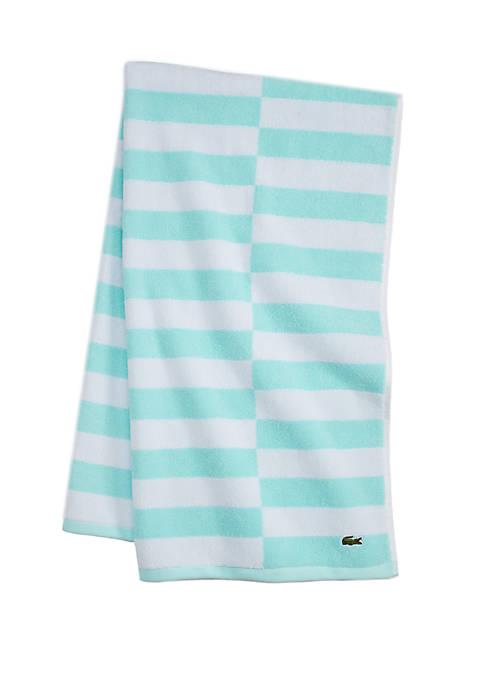 Lacoste Offset Stripe Bath Towel Collection