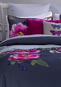 Butterfly Moonlight Twin XL Duvet Set  68-in. x 88-in.