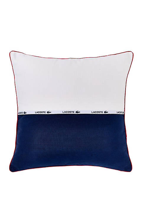 Lacoste L.12.12. Cotton Throw Pillow
