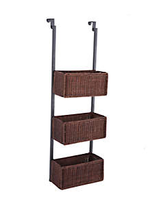 Southern Enterprises Bernard Over-The Door 3-Tier Basket Storage