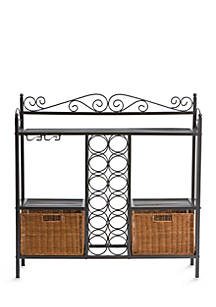 Southern Enterprises Rexford Bakers Rack With Wine Storage