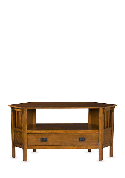 Southern Enterprises Norton Corner Tv/Media Stand-Dark Oak