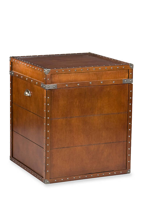 Southern Enterprises Coach Trunk End Table