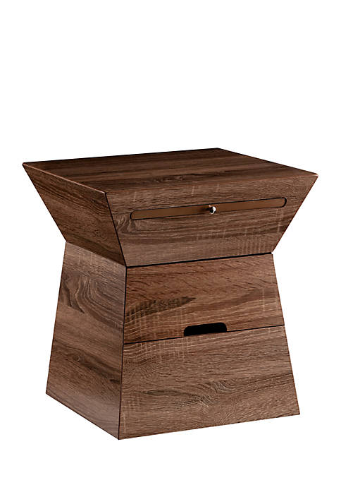 Southern Enterprises Dexter Geometric Storage Accent Table