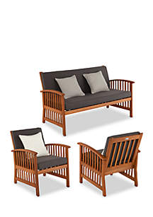 Catania 3-Piece Outdoor Deep Seating Set