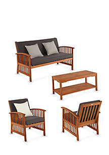 Catania 4-Piece Outdoor Deep Seating Set