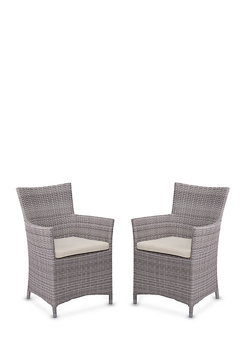 Southern Enterprises Bristow 2-Piece Outdoor Easy Chair Set
