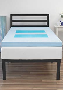 SensorPEDIC® GelMax 3 Inch Memory Foam Bed Topper with Gel Overlay Inserts
