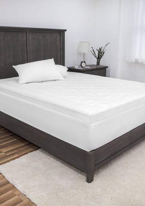 Euro Majestic 3-Inch Quilted Memory Foam Mattress Topper