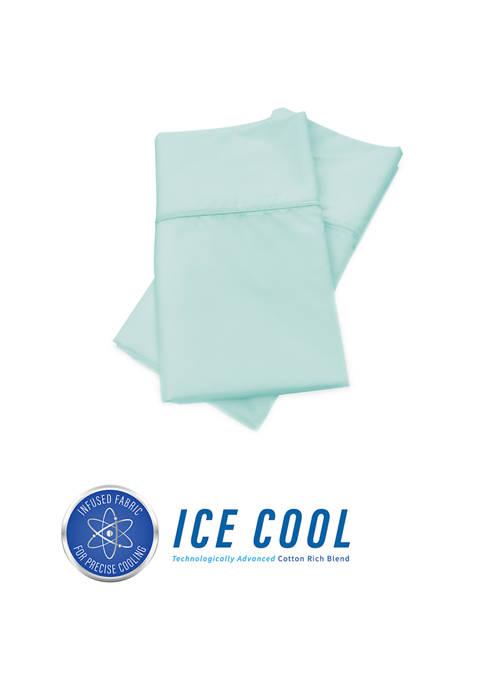 Ice Cool 400 Thread Count Cotton-Rich Standard Pillowcase Pair