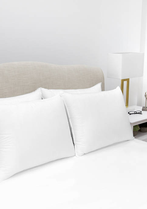 Ultra Fresh Antimicrobial Standard Bed Pillow with Cotton Cover