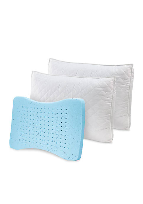 MemoryLoft with GEL Deluxe Quilted Pillow w/Nanotex- 2pk