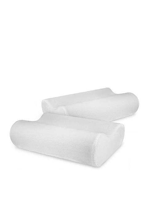 Classic Contour Memory Foam Bed Pillow 2 Pack