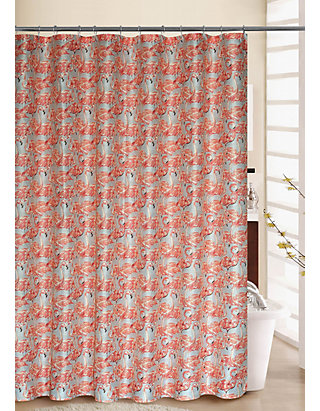 Social Shower Courtain.Waverly Beach Social Shower Curtain With Rings