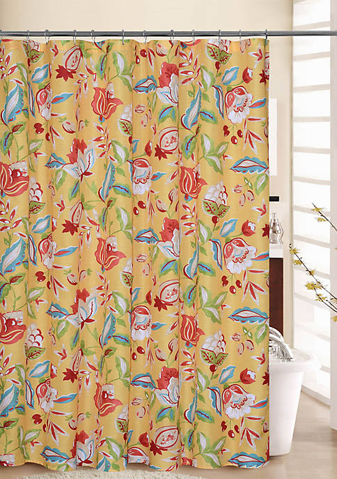 Waverly Modern Poetic Shower Curtain with Rings