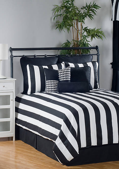 Victor Mill City Stripe Full Comforter Set 86-in.