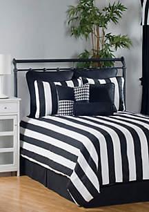 City Stripe King Comforter Set