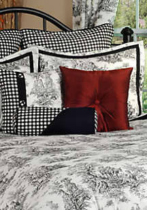 Jamestown Square Decoractive Pillow 18-in. x 18-in.