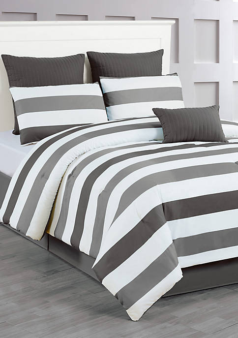 Darby 7 Piece Quilted Comforter Set