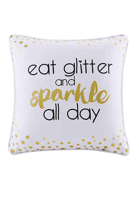 Back to Class Eat Glitter Decorative Pillow