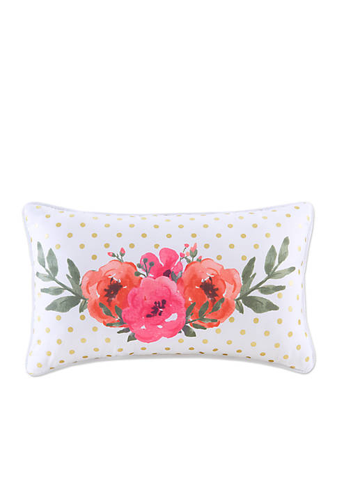Back to Class Watercolor Floral Decorative Pillow