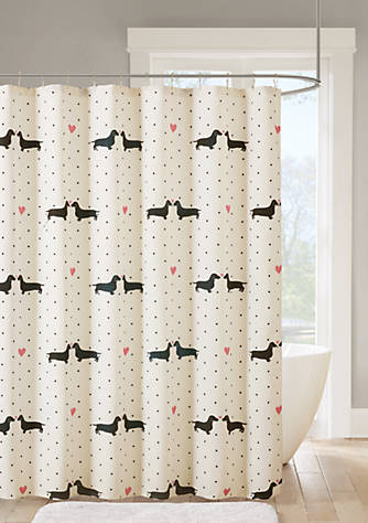 Back To Class Dachshund Shower Curtain