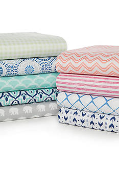 Home Accents® Super Soft Microfiber Printed Sheet Set