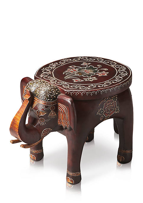 Botswana Hand Painted Accent Table