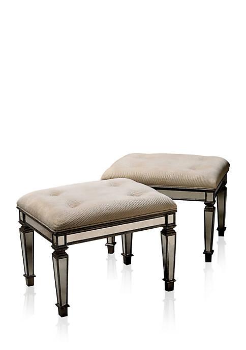 Butler Specialty Company Celeste Mirrored Vanity Seat