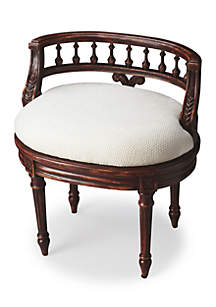 Butler Specialty Company Hathaway Crackled Crimson Vanity Seat