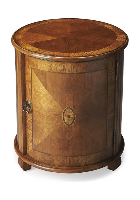 Butler Specialty Company Lawrie Ash Burl Drum Table