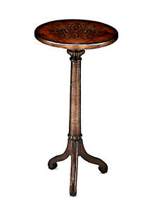 Butler Specialty Company Florence Brown and Gold Pedestal Table