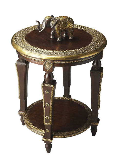 Butler Specialty Company Ranthore Round Brass Accent Table