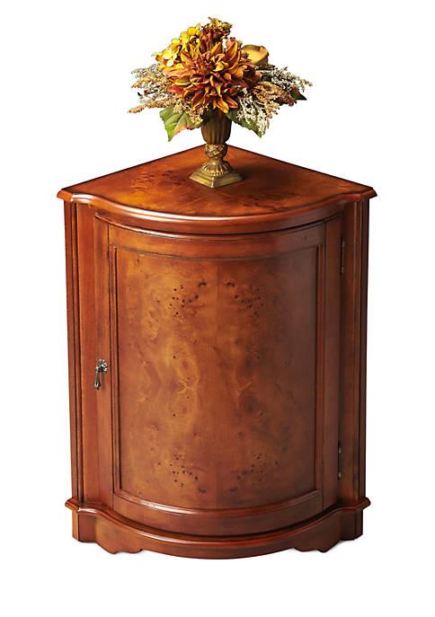 Butler Specialty Company Durham Ash Burl Corner Cabinet