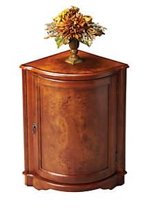 Durham Ash Burl Corner Cabinet
