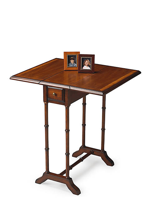 Darrow Olive Ash Burl Drop-Leaf Table