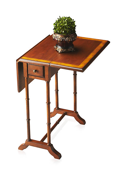Darrow Olive Ash Burl Drop-Leaf Table