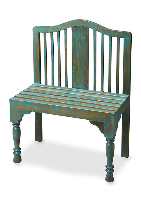 Butler Specialty Company Roseland Blue Solid Wood Bench