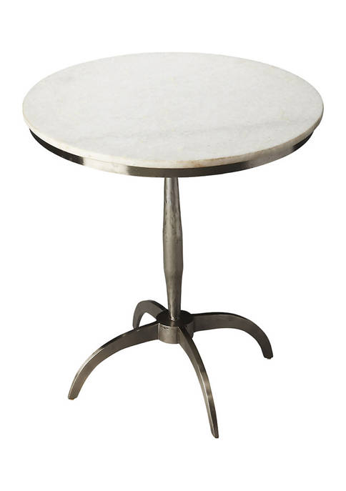 Palmilla Marble & Metal Accent Table
