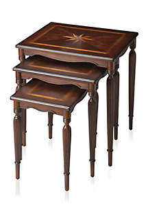 Winifred Plantation Cherry Nest of Tables