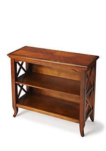 Newport Ash Burl Low Bookcase