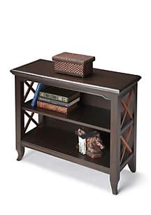 Newport Black N Cherry Low Bookcase