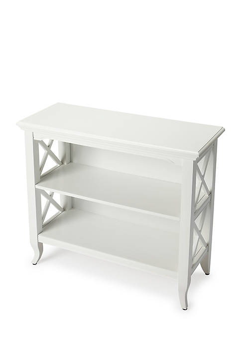 Butler Specialty Company Newport Glossy White Low Bookcase
