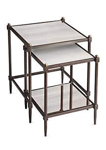 Peninsula Mirrored Nesting Tables