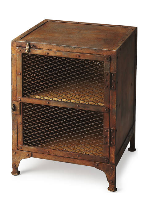 Lucas Industrial Chic Chairside Chest