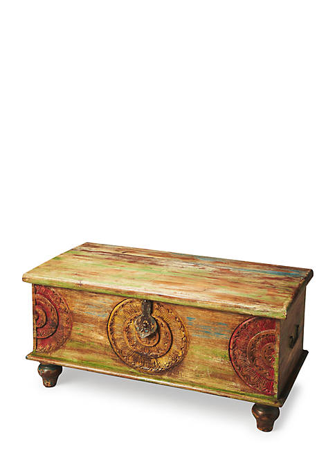 Butler Specialty Company Mesa Carved Wood Trunk Cocktail