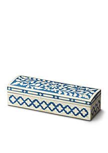 Butler Specialty Company Amanda Blue Bone Inlay Storage Box