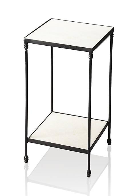Larkin Marble & Iron Accent Table